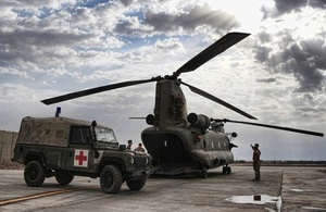 Medical evacuation response team helicopter in Afghanistan