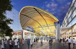 HS2 vision for Euston southern entrance