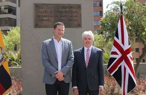 Mayor Mauricio Rodas and Ambassador Patrick Mullee