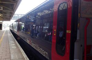 Image showing train and platform at Hayes and Harlington station