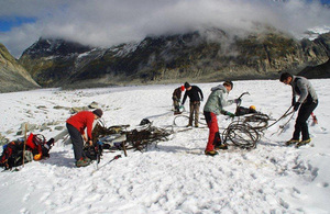 Cleaning up the Mer de Glace glacier