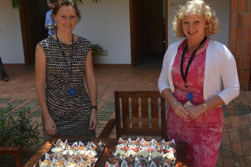 British High Commissioner HE Alison Blackburne (L) and Deputy High Commissioner Mary Shockledge (R).