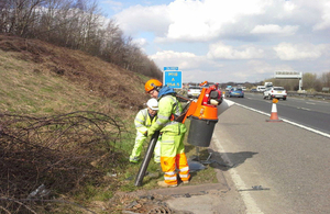 M18 litter picking with vacuum