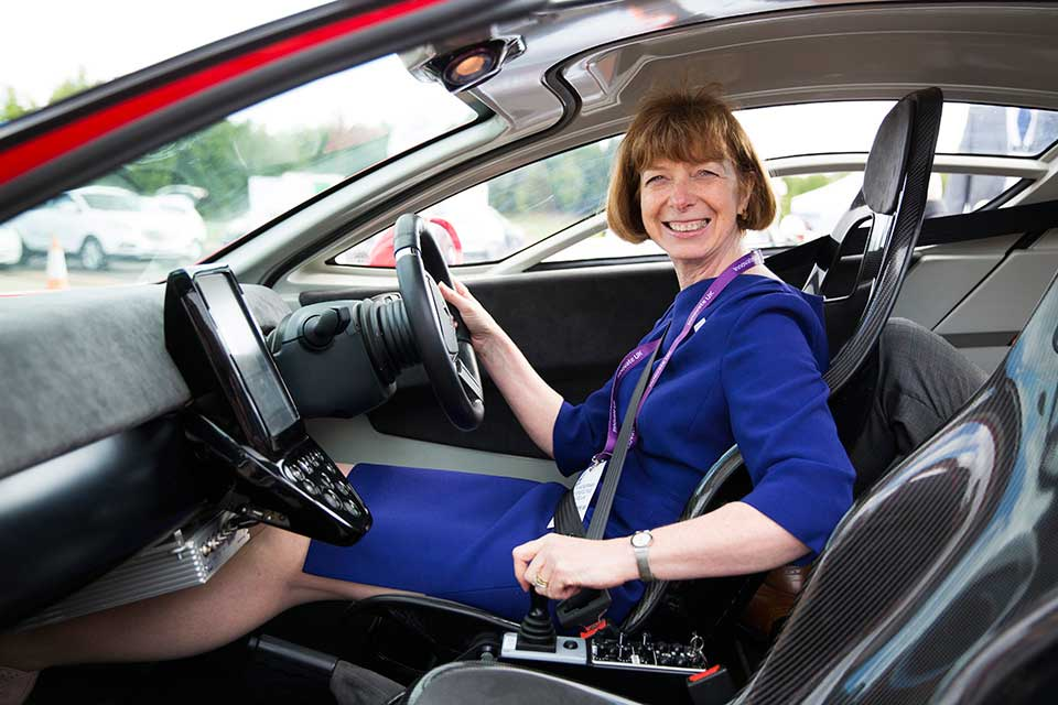 LCV 2015 gave Innovate UK chief executive Dr Ruth McKernan the chance to get behind the wheel