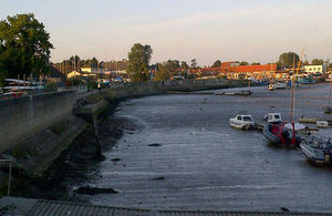 Woodbridge sea wall