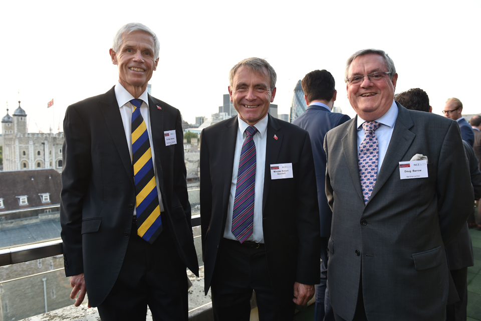 Robert Goodwill with attendees at the Red Ensign Reception