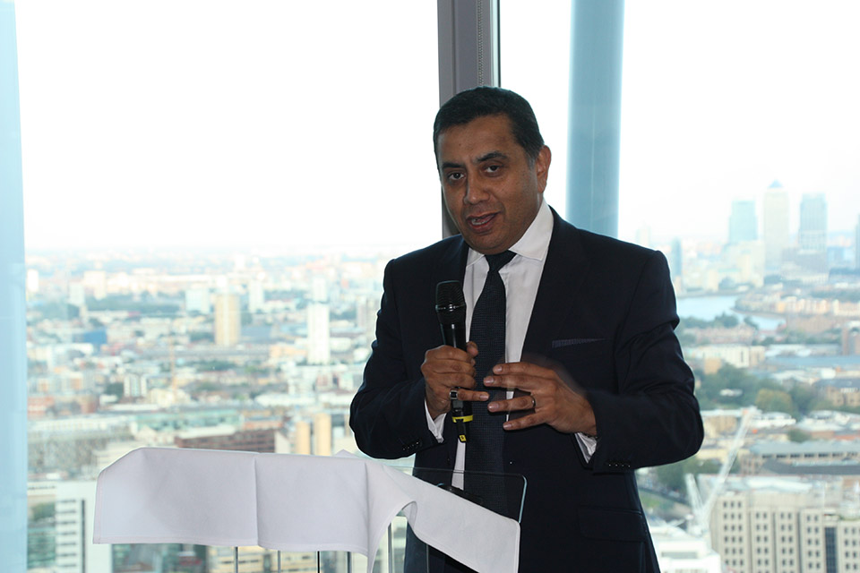 Lord Ahmad at Mersey Maritime reception