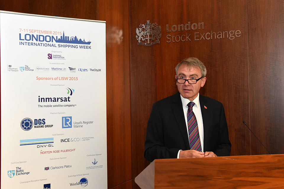 Robert Goodwill at the London Stock Exchange