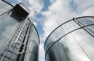 Steel water tanks.