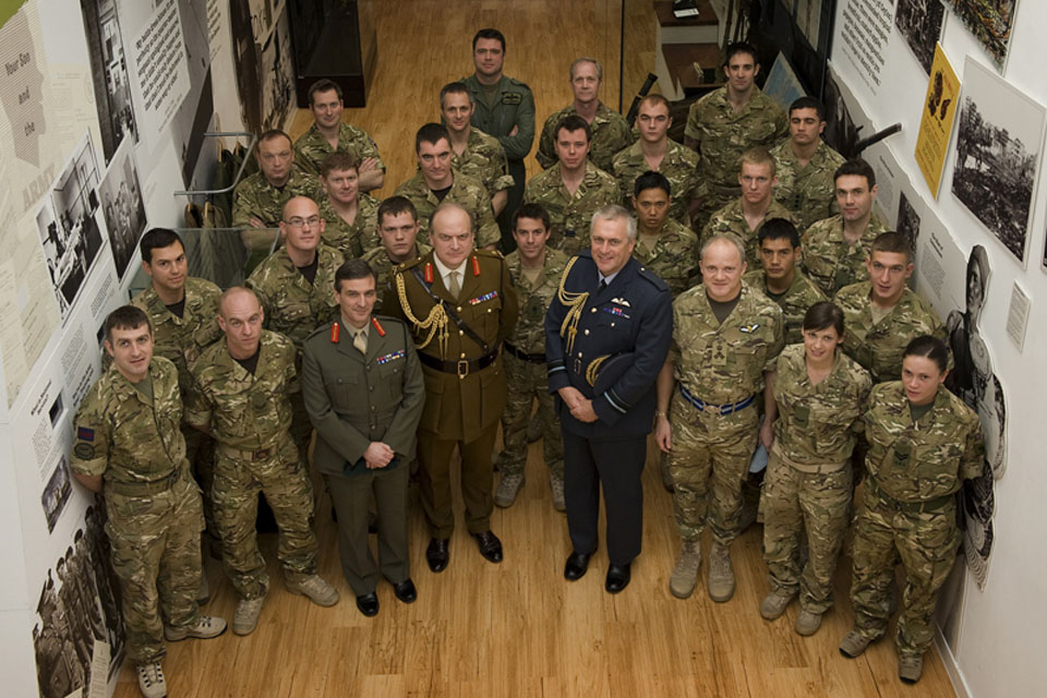 Lieutenant General Barney White-Spunner (centre, left) with some of the award winners at the National Army Museum in London