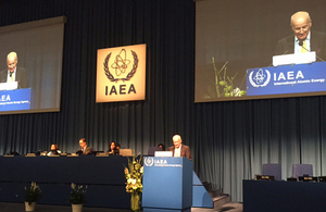 Professor John Loughhead delivering the UK statement to the IAEA General Conference in Vienna, 2015