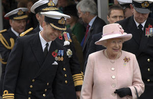 Her Majesty The Queen visiting HMS Ark Royal