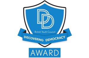 Discovering Democracy Award logo.