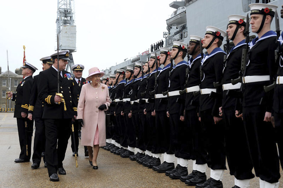 Her Majesty The Queen inspects the Guard of Honour