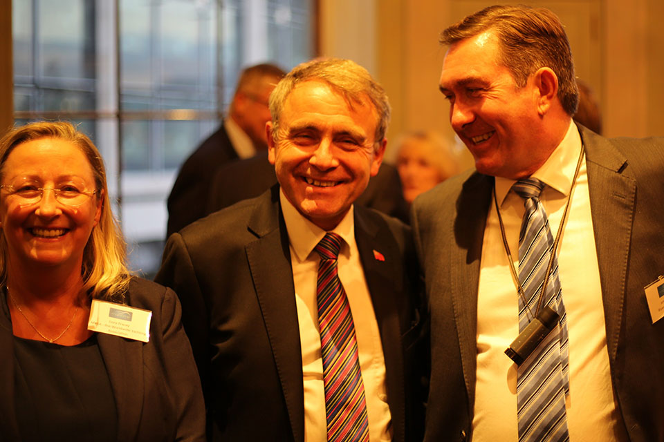 Cora Tracey, Robert Goodwill MP and John Wyborn.