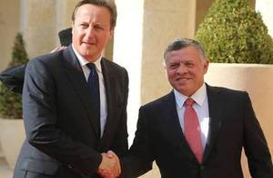 PM David Cameron meets HM King Abdullah II