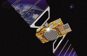 Artist's impression of a Galileo satellite.