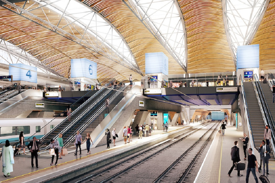 HS2 vision for Euston platform