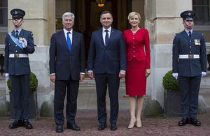 The Secretary of State for Defence and President of the Republic of Poland