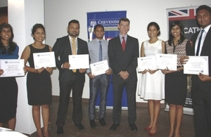 Sri Lankan and Maldivian Chevening Scholars with the British High Commissioner.