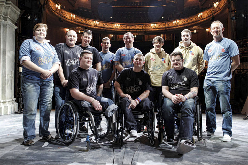 Cast members of 'The Two Worlds of Charlie F' at the Theatre Royal Haymarket