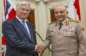 Defence Secretary Michael Fallon and General Mahmoud Hegazy