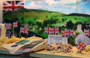 British flags on cheese