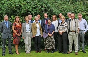 Natural England's chief executive James Cross with stakeholders and partners