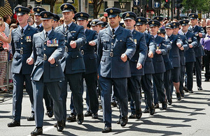 RAF personnel taking part in the Pride march in London last year
