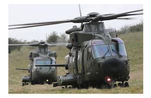 RAF Merlins on Salisbury Plain during Exercise Chiltern Kite