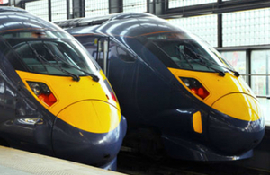 Image of high speed rail trains.
