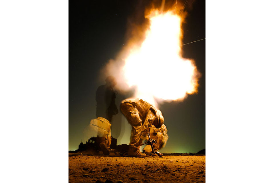 An RAF Regiment mortar team defending Kandahar Airfield (stock image)
