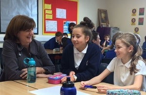 Nicky Morgan with children