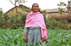 Photograph of a woman in Nepal