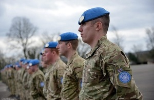 UK soldiers in UN peacekeeping forces