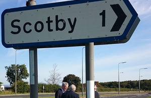 Andrew Jones visits road schemes in the north.