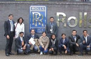 CRISP scholars visiting Rolls Royce in last academic year.
