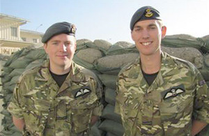 Flying Officers Matthew Smyth and Lee Southward in Afghanistan