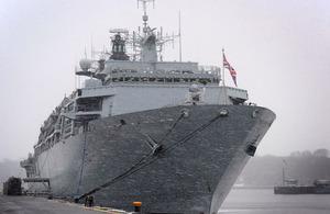 HMS Bulwark alongside in Kiel naval base