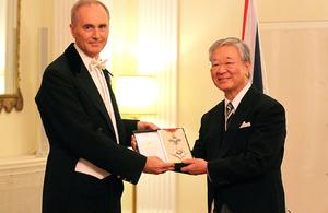 Mr Hiroaki Nakanishi honoured by the Queen