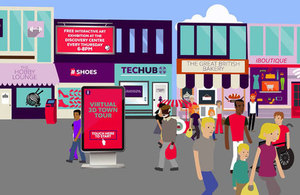 An animation explaining the aims of the re-imaging the High Street competition