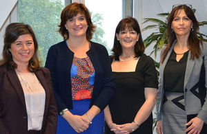 Nicky Morgan with chairs of teacher workload groups