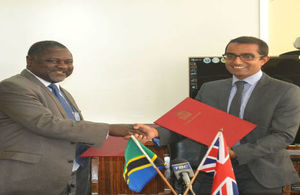 The Permanent Secretary of the Ministry of Finance, Dr. Servacius Likwelile and Head of DFID Tanzania, Mr. Vel Gnanendran