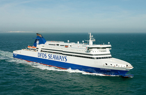 Photograph showing the ro-ro passenger ferry Dieppe Seaways