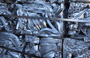 piles of aluminium