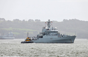 HMS Echo returns to Plymouth