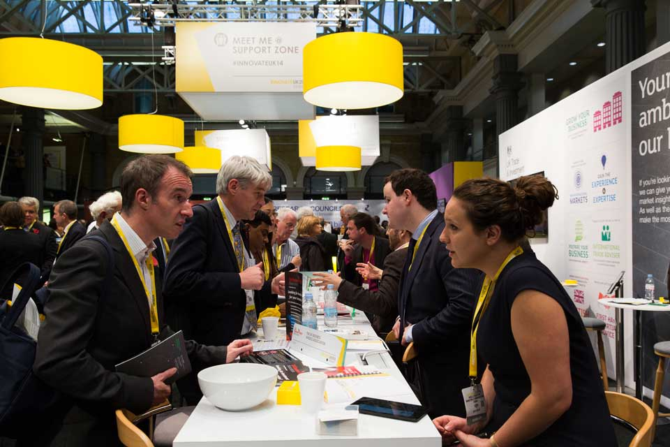 Attendees networking at Innovate 2014