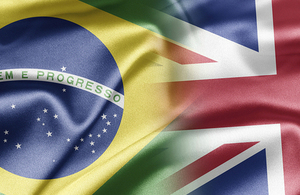 Brazil and UK flags merged