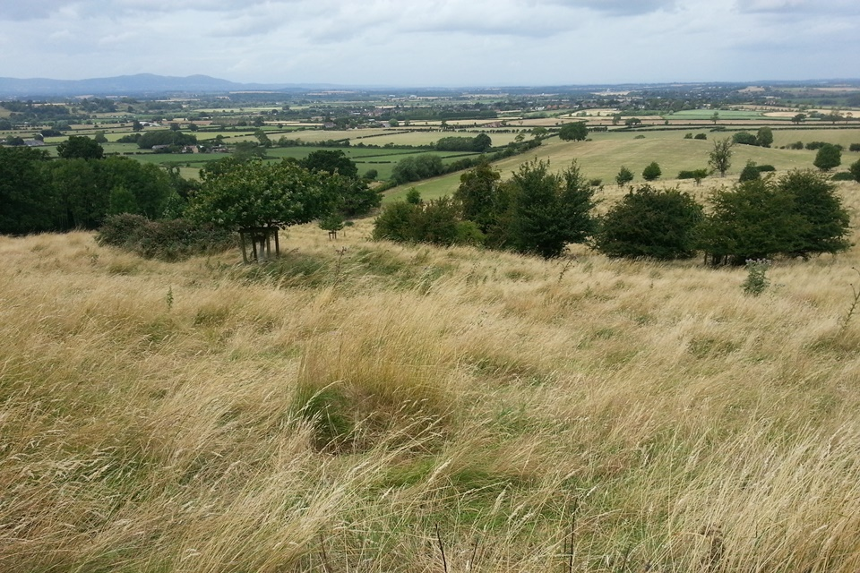 View west from Bredon Hill towards Malvern Hills © Tabatha Leigh