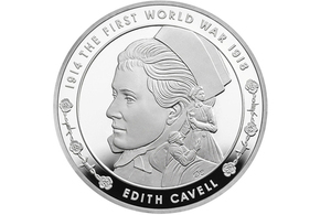 Picture of the Edith Cavell coin